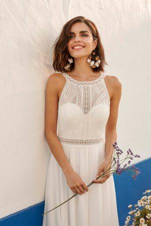 Robe de mariée style vintage en dentelle