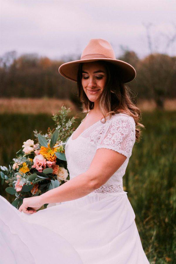 robe de mariée adaptée au silhouette pulpeuse